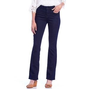 NYDJ Marilyn Straight Jeans in Dark Rinse